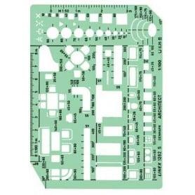 Plantilla de muebles Linex 1263S Escala 1:50