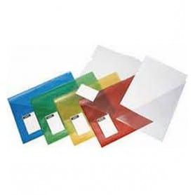 Dossier PVC con bolsa Rojo