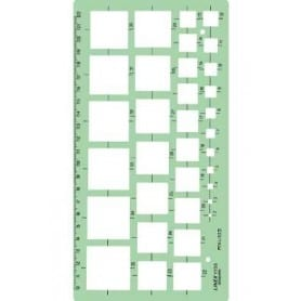Plantilla de cuadrados Linex 1173S