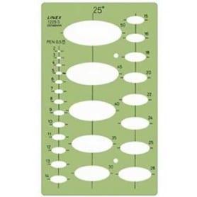 Plantilla de elipses 25º Linex 1225S