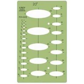 Plantilla de elipses 20º Linex 1220S