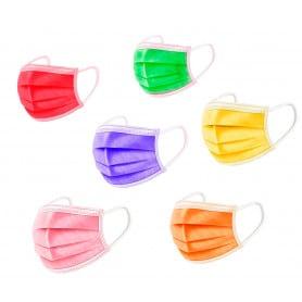Pack 10 Mascarillas Higiénicas 3 Capas Colores