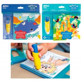 Bloc Pinta y Colorea con Agua Apli Kids