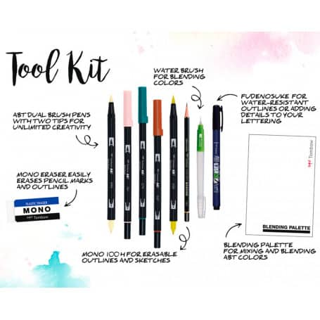 set-blended-lettering-tombow-goya-tiempos-acogedores-contenido