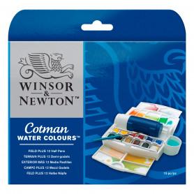 Caja de Campo Plus Acuarela Cotman Winsor & Newton