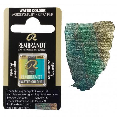 acuarela-rembrandt-medio-godet-serie-3-goya-863-azul-verde-oro-camaleon