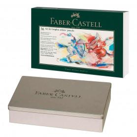 Estuche Metal para 36 Lápices Faber Castell