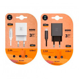 Set Cargador Rápido Tipo USB-C Tech One Tech