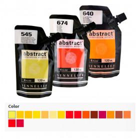 Acrílico Abstract Amarillos, Naranjas Y Rojos 120 ml Sennelier