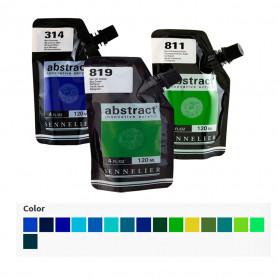 Acrílico Abstract Azules y Verdes 120 ml Sennelier