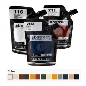 Acrílico Abstract Blancos, Negros y Tierras 120 ml Sennelier