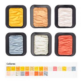 Acuarela Colores Metales Finetec