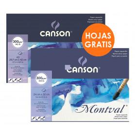 bloc-acuarela-encolado-300-grm2-grano-fino-montval-canson-goya