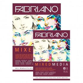Bloc Técnicas Mixtas 250 gr Mixed Media Fabriano