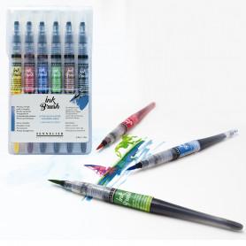 Set 6 Pinceles Ink Brush Sennelier