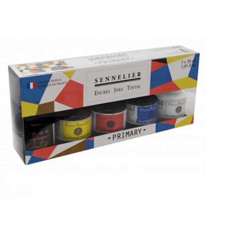 Set Tinta 5 Colores x 30 ml Sennelier