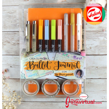 set-bullet-journal-naranja-intenso