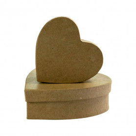 Set 2 Cajas Corazón Décopatch