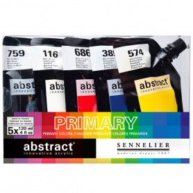 set-abstract-primary-5-colores-sennelier-goya