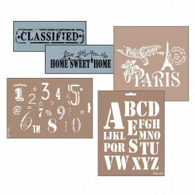 Plantillas Stencil Alfabetos y Letreros Cadence