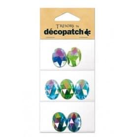 Tresors Ovales verde / azul Décopatch