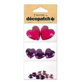 Tresors Corazones violeta Décopatch