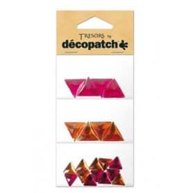 Tresors Triángulos rosa/naranja Décopatch