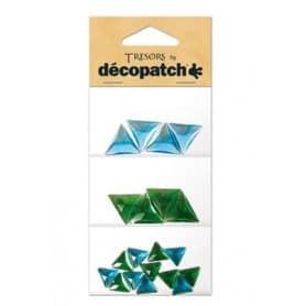 Tresors Triángulos azules/verdes Décopatch