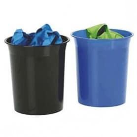 Papelera plástico 13 litros Negra