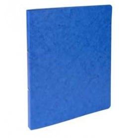 Carpeta 4 anillas cartulina folio 15 mm Azul