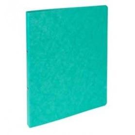 Carpeta 4 anillas cartulina folio 15 mm Verde