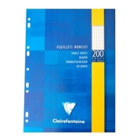 Recambio hojas Clairefontaine A4 cuadrícula 5 x 5 200 páginas