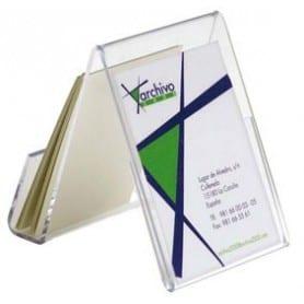 Portatarjetas Sobremesa Vertical Transparente