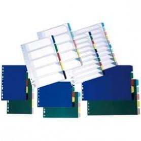 10 Separadores PVC Folio Traslúcidos