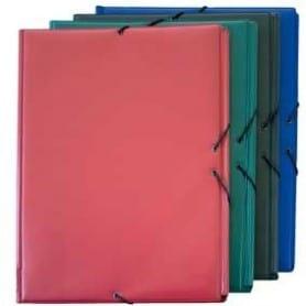 Carpeta Forrada en PVC - Folio Prolongado Azul
