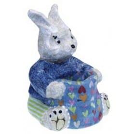 Conejo con cesta Décopatch pequeño