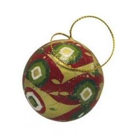 Pack 8 bolas de Navidad con cordón dorado NO007O