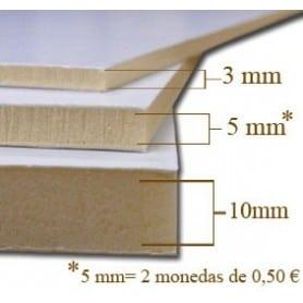Caja 56 planchas Cartón pluma 3 mm - A4