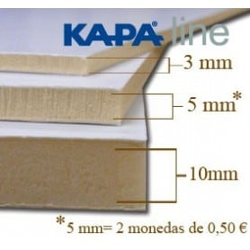 Caja 24 planchas Cartón pluma 5 mm - 70x100