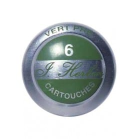 Cartuchos tinta HERBIN verde prado Caja 6 unidades