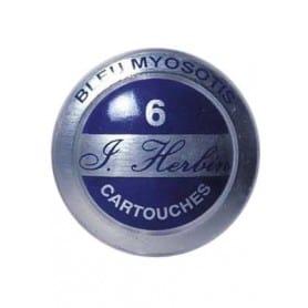 Cartuchos tinta HERBIN azul myosotis Caja 6 unidades