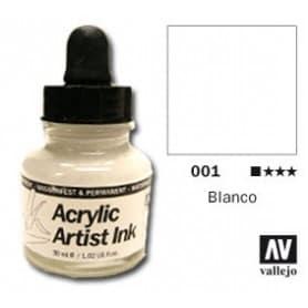 Tinta acrílica Acrylic Artist Ink 001 Blanco