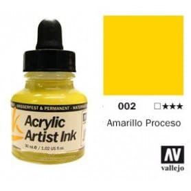 Tinta acrílica Acrylic Artist Ink 002 Amarillo Proceso
