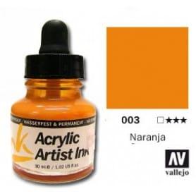 Tinta acrílica Acrylic Artist Ink 003 Naranja