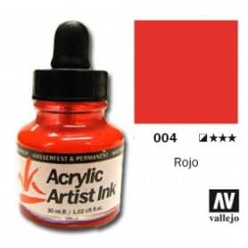 Tinta acrílica Acrylic Artist Ink 004 Rojo