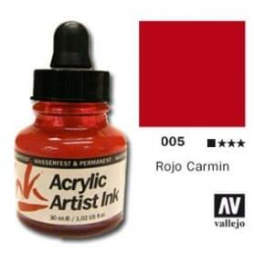 Tinta acrílica Acrylic Artist Ink 005 Rojo Carmin