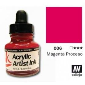 Tinta acrílica Acrylic Artist Ink 006 Magenta Proceso