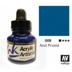 Tinta acrílica Acrylic Artist Ink 008 Azul de Prussia