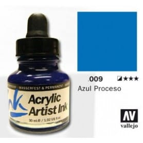 Tinta acrílica Acrylic Artist Ink 009 Azul Proceso