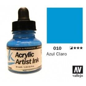 Tinta acrílica Acrylic Artist Ink 010 Azul Claro